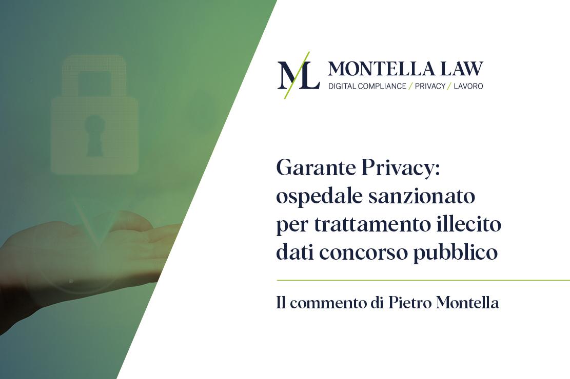 garante della privacy commento a cura dell'avvocato Pietro Montella